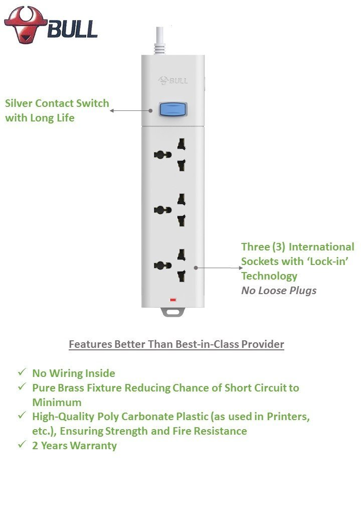 Terrific Bull 3 Socket 1 Switch 1 5 M Wire Extension Board Fatcherry Wiring Database Lukepterrageneticorg
